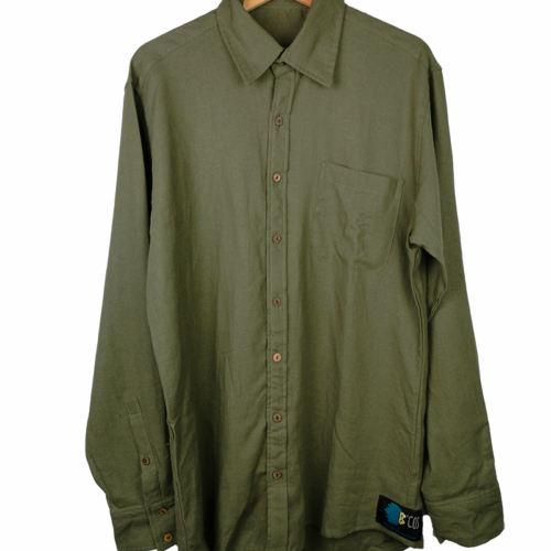 Leinenhemd in Olive von BCOS ORDINARY SUCKS Fair hergestellt fairfashion